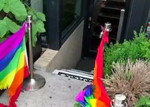 Arsonist burns rainbow flags outside New York's only black-owned gay bar