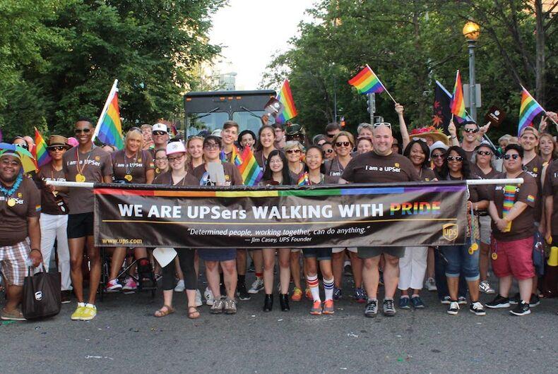 ups, pride, pinkwashing, hrc, anti-gay politicians