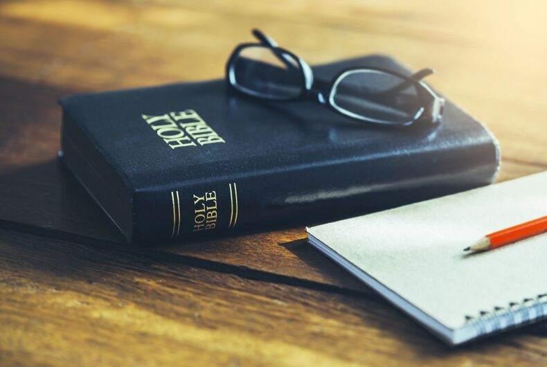A bible and a notepad