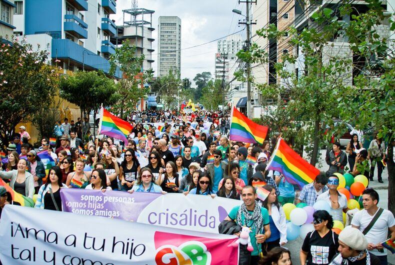 Pride in Quito in 2003