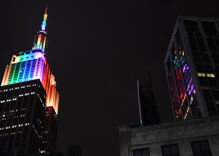 NYC will light 12 iconic buildings in rainbow colors for World Pride