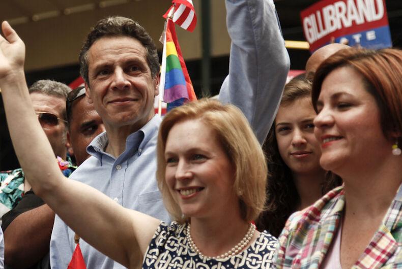 Andrew Cuomo, Kirsten Gillibrand, Cristine Quinn, 2010, New York City Gay Pride March, LGBTQ, gay agenda, LGBT agenda, Pride Month