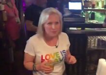 Kirsten Gillibrand went shopping for pride gear with Chasten Buttigieg & served drinks at a gay bar