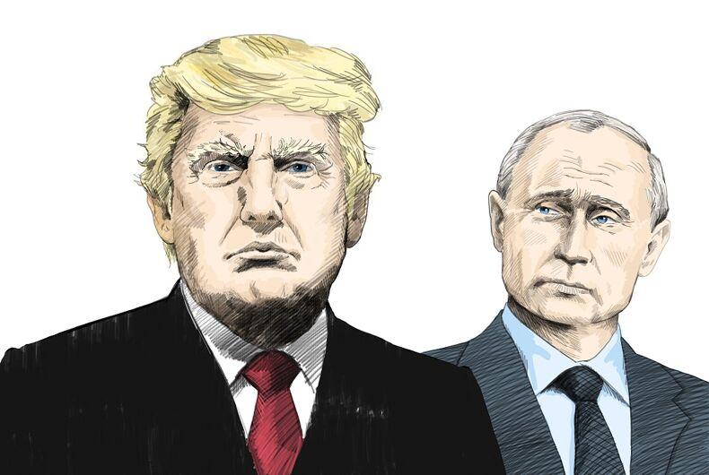 A portrait of Donald Trump and Vladimir Putin