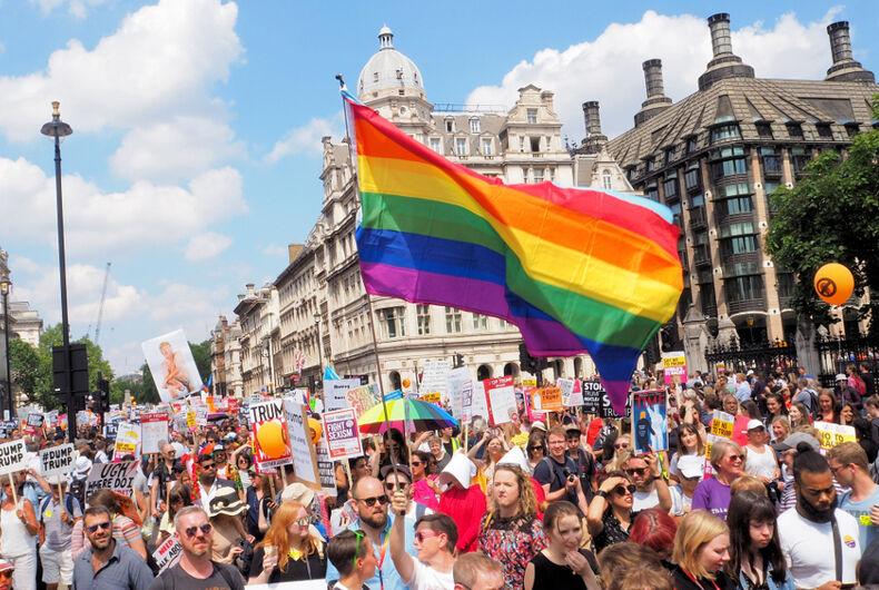 rainbow flag, pride flag, lgbtq, lgbt, gay, parade, U.S. Embassies, Donald Trump