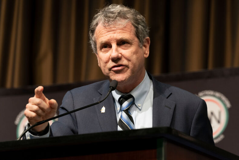 US Senator Sherrod Brown speaks during the National Action Network 2019 convention at Sheraton Times Square.