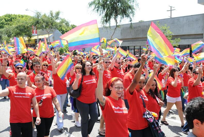 Los Angeles Pride parade, rainbow flags