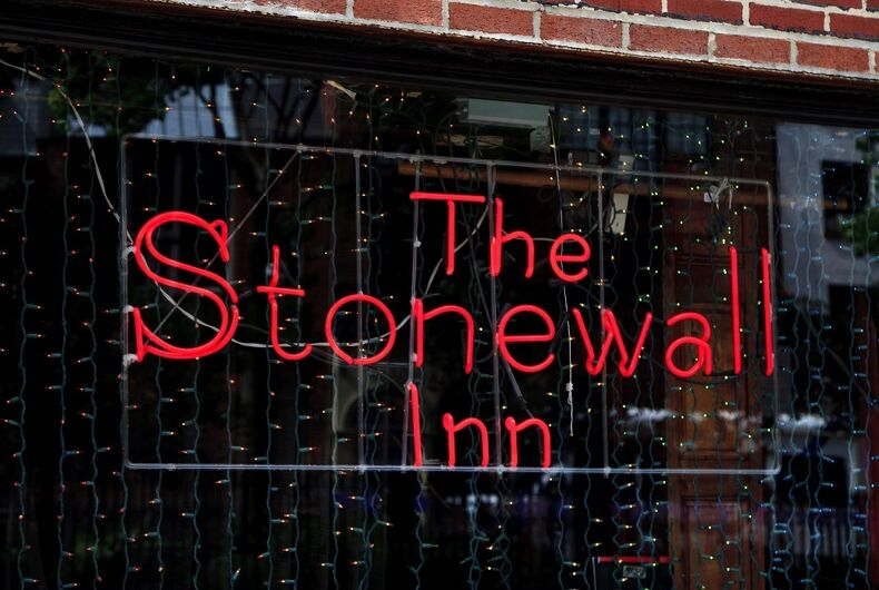 Stonewall Inn's iconic neon sign
