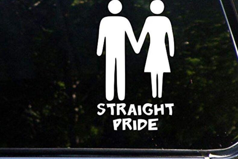 Straight Pride car decal