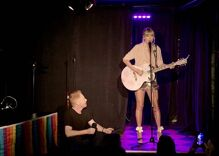 Taylor Swift did a surprise performance at the Stonewall Inn & we have video