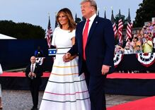 Was Melania Trump secretly celebrating Pride at the Fourth of July parade?