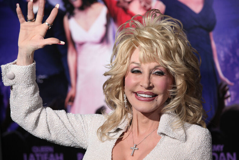 Dolly Parton arriving to