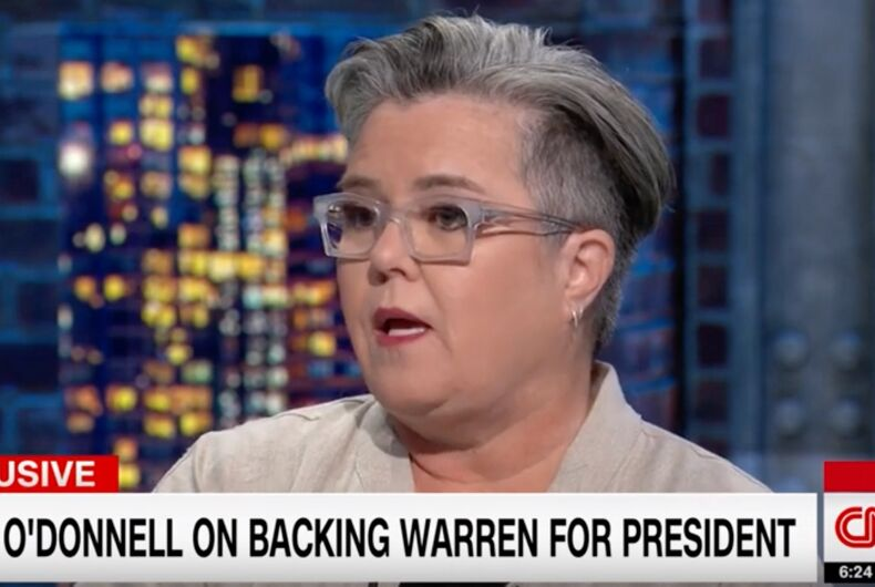 Rosie O'Donnell's first pick to be the 2020 Democratic nominee is Elizabeth Warren