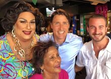 Justin Trudeau popped into a gay bar to have a beer & say hello