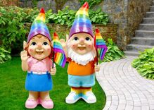 Police were called when a man exploded in anger over a store's Pride garden gnomes