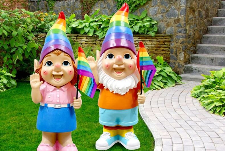 The rainbow garden gnomes