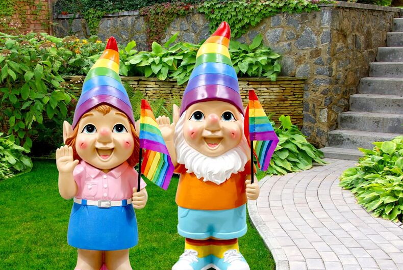 A disturbed shopper was thrown out of a store after he had a meltdown over gay garden gnomes