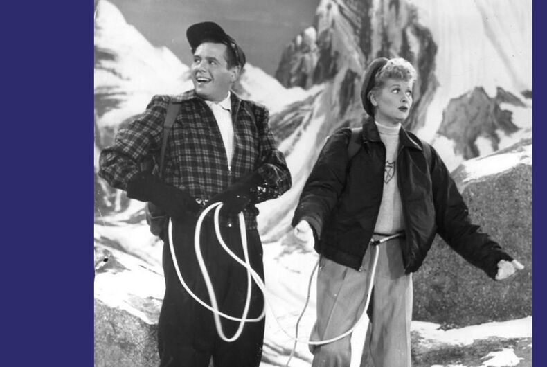 A scene from I Love Lucy.