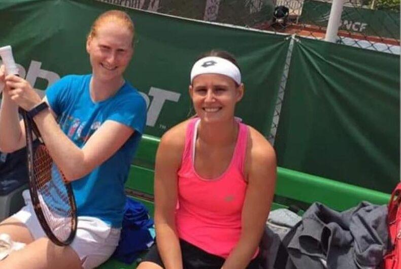 Alison van Uytvanck, Greet Minnen, lesbian couple, Wimbledon, doubles partners, lesbian