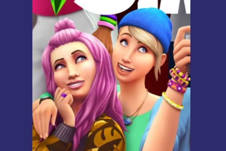 The lesbian couple on The Sims 4