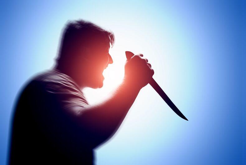 A man holding a knife