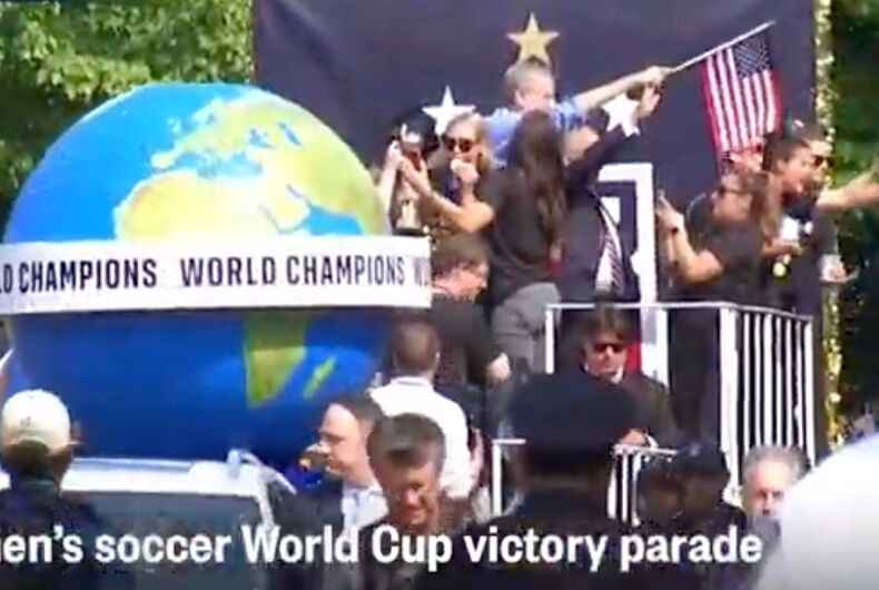 NYC is hosting a ticker-tape parade through the streets of Manhattan for the US women's soccer team's World Cup win.