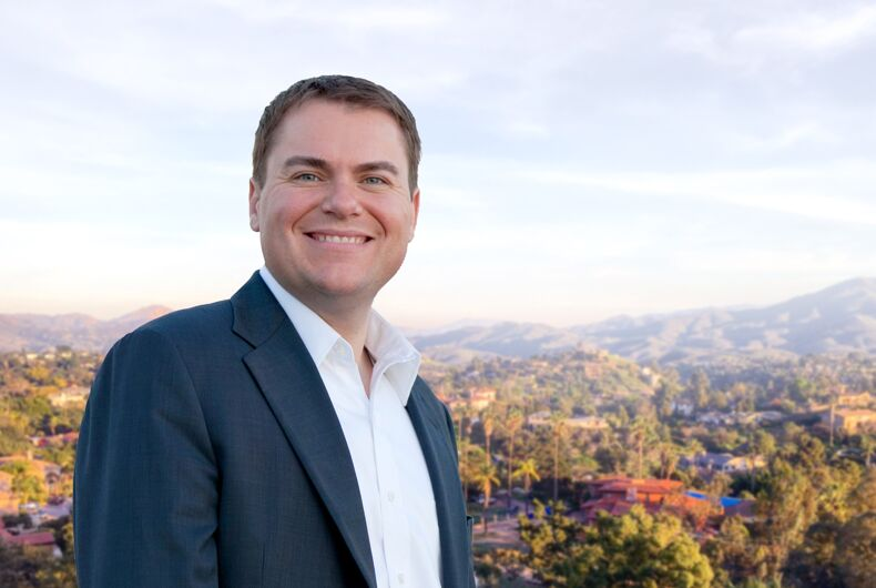 A gay Republican would like voters to forget he's gay as he runs for Congress