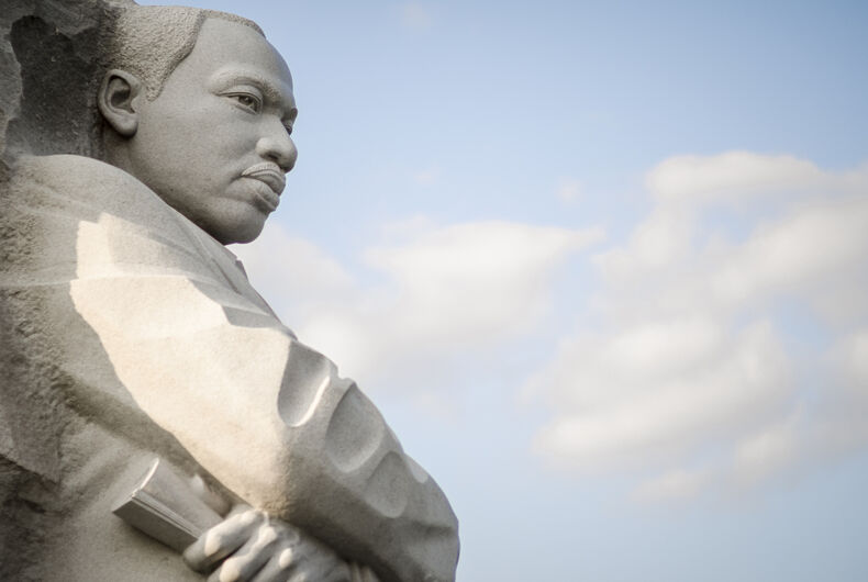 The Martin Luther King Jr Memorial, featuring a portrait of the civil rights leader carved in granite, was dedicated by President Barack Obama in 2011.