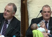 A gay member of Parliament brought their newborn son to work. The speaker made the baby a VIP.