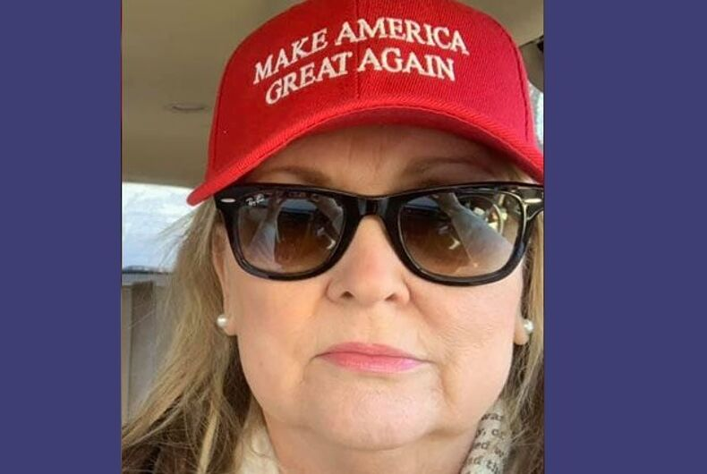 Candice Keller in a MAGA hat