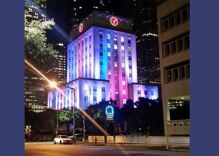 Houston's city hall was lit up with trans flag colors in memory of Tracy Single