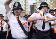 Cop caught on camera dancing during pride parade is what you need today