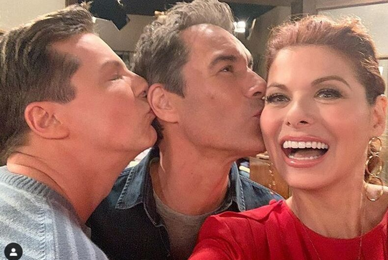 The Will & Grace co-stars, sans Mullally