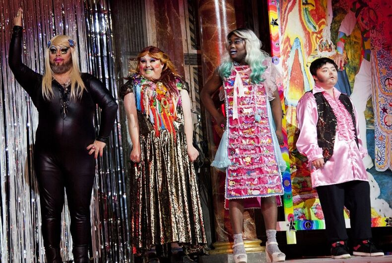 Drag Syndrome performers on stage