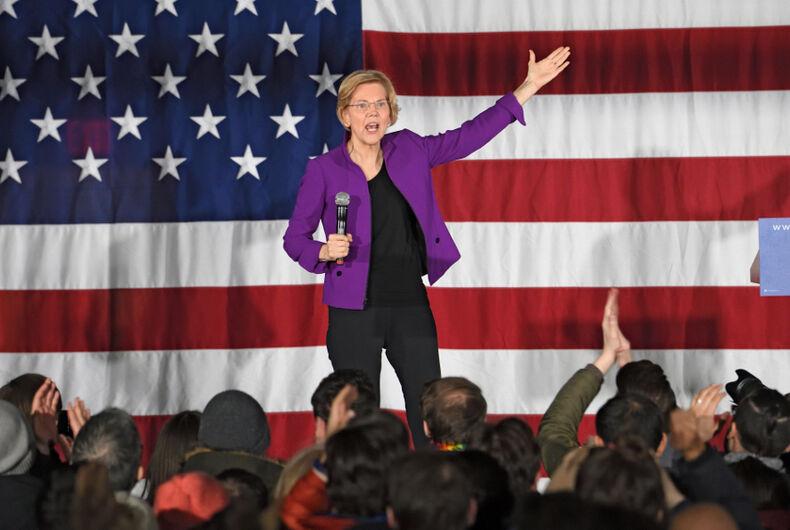 Elizabeth Warren, transgender healthcare