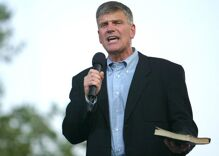 Franklin Graham got banned from another arena for his hate speech. Now he wants to sue.