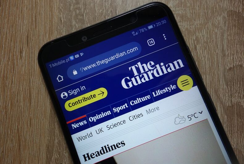 The Guardian's mobile app