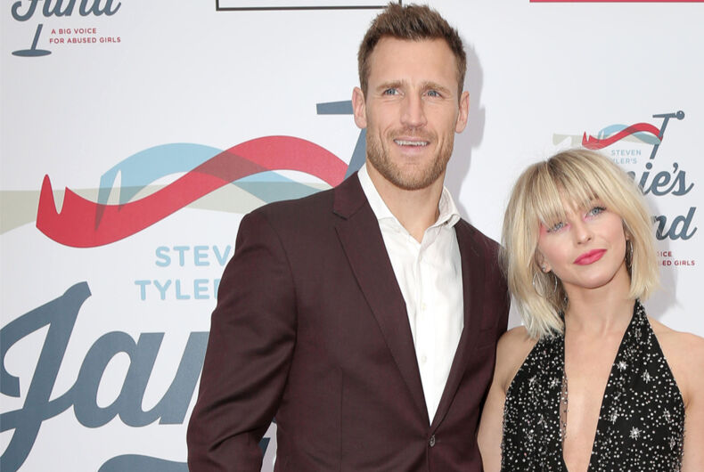 Brooks Laich and Julianne Hough at Steven Tyler's Grammy viewing party on February 10, 2019 in Los Angeles
