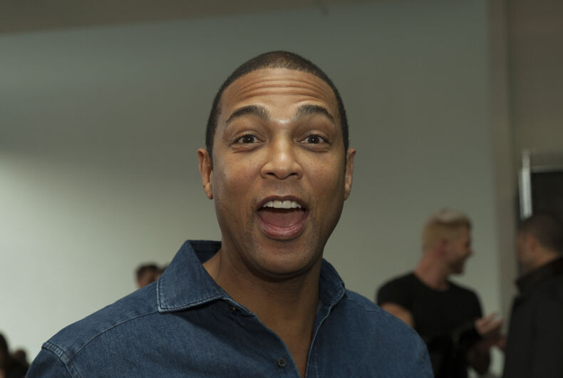 February 1, 2017: Don Lemon attends the blue jacket fashon show in support for prostate cancer awarness during New York Fashion week at Pier 59