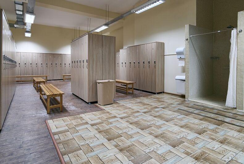 A locker room