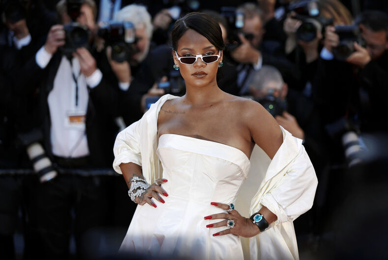 Singer Rihanna attends the 'Okja' photo-call during the 70th Cannes Film Festival on May 19, 2017