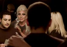 Lady Gaga surprised an emotional gay fan & comforted him as he talked about his dad's rejection