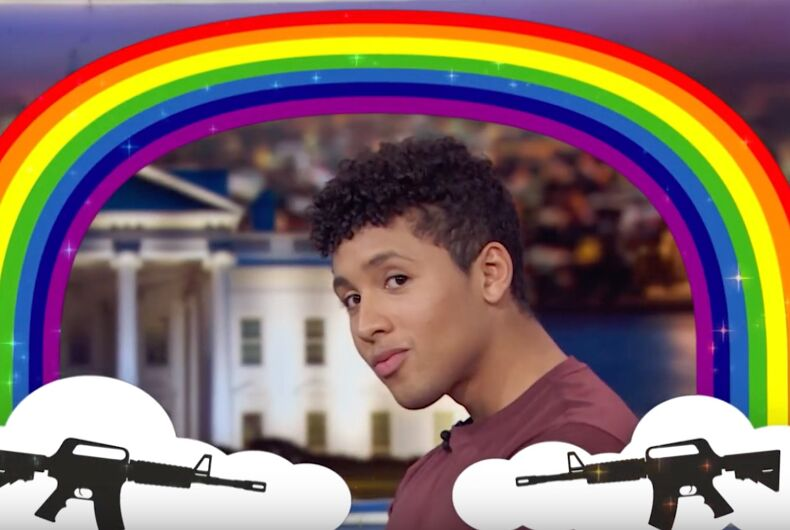 Jaboukie Young-White shows how gay guns are