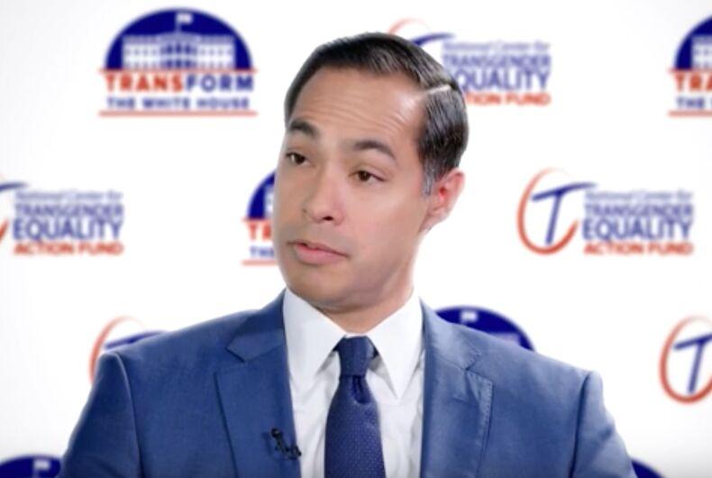 Former HUD Secretary and 2020 Democratic presidential candidate Julian Castro