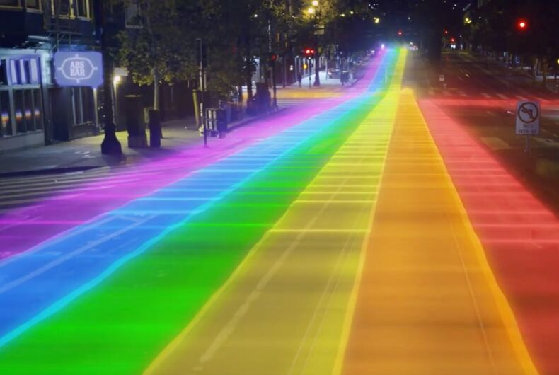 Ride With Pride envisions a new metro map that would come together to create a rainbow flag.
