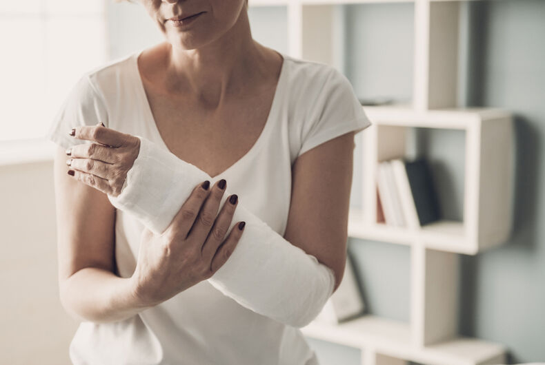broken arm, straight Pride, Boston, Massachusetts, Sandra Pelkie