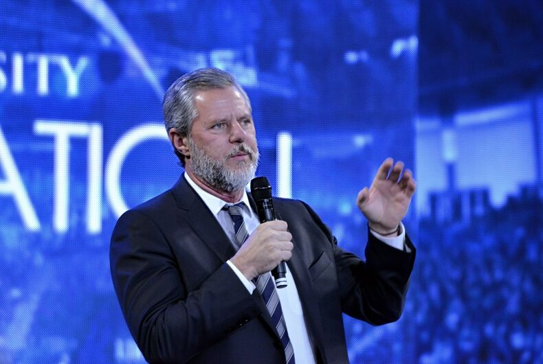 Jerry Falwell was one of America's most notorious homophobes, and he founded Liberty University. His son, Jerry Falwell Jr, took over the school when his father passed away.
