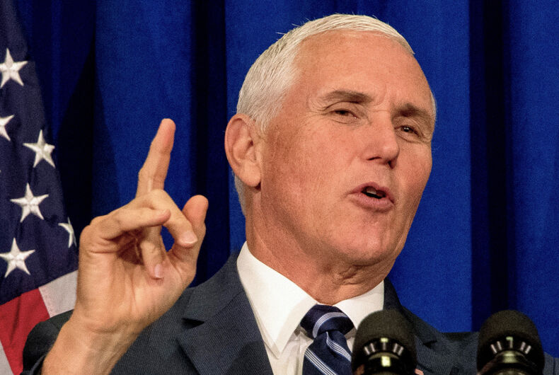 Mike Pence, Lafayette, Indiana, Vice President, anti-gay, anti-LGBTQ, homophobia, homophobic, Indiana Policy Review