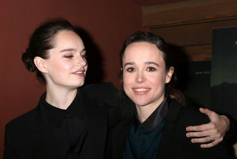 Emma Portner and Ellen Page at