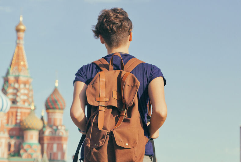 Russia, University, homophobia, pink cell phone
